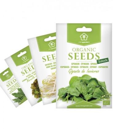 Auswahl SALATE, Biologisches Saatgut von Minigarden